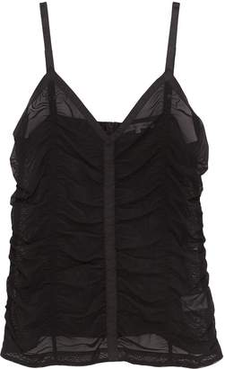 Helmut Lang Ruched mesh camisole top