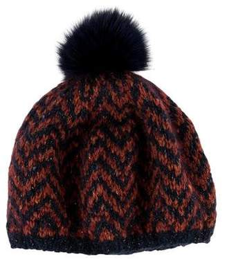 Eugenia Kim Fur-Trimmed Knit Beanie