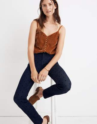 """Madewell 9"""" High-Rise Skinny Jeans: Flocked Dots Edition"""