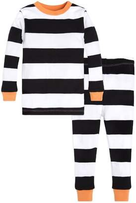 Burt's Bees Halloween Rugby Stripe Baby Organic 2-piece Pajamas