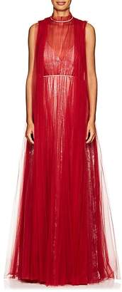 Valentino Women's Pleated Tulle Sleeveless Gown