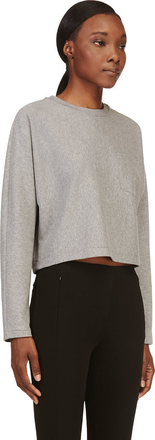 Alexander Wang Grey Dolman Sleeve T-Shirt