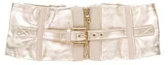 Dolce & Gabbana Metallic Corset Waist Belt