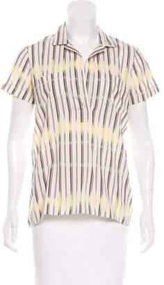 Marni Striped Short Sleeve Top