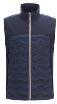 BOSS Hugo Link2 down gilet in water-repellent quilted taffeta L Dark Blue