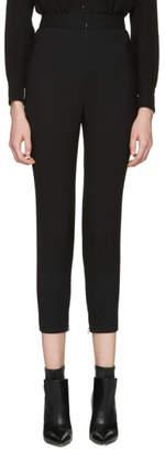 Alexander McQueen Black Skinny Wool Trousers