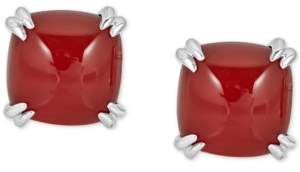 Macy's Red Agate Curved Claw Stud Earrings in Sterling Silver