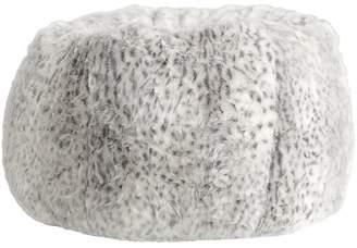 Pottery Barn Teen Gray Leopard Beanbag, Slipcover + Beanbag Insert, Large
