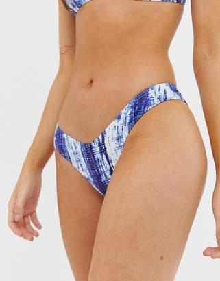 Luxe Palm mix and match tie dye cheeky cut bikini bottoms