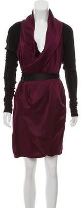 Rag & Bone Long Sleeve Wrap Dress
