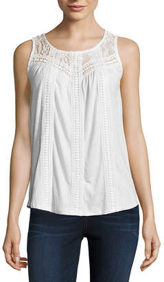 John Paul Richard JOHNPAULRICHARD Sleeveless Round Neck Knit Blouse