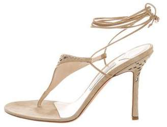 Jimmy Choo Suede Lace-Up Sandals