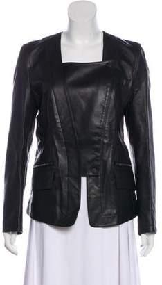 Alexander Wang Leather Collarless Jacket