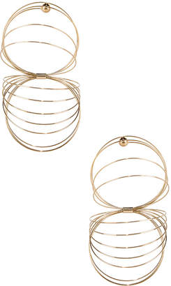 Y/Project Gold Slinky Earrings