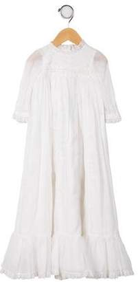 Ralph Lauren Girls' Lace- Accented Dress w/ Tags
