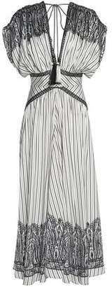 Etro Ruched Printed Silk-Faille Midi Dress