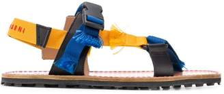 Marni frayed slingback sandals