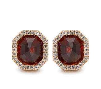 Monique Péan Diamond, garnet & white-gold earrings
