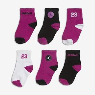 Jordan Legend Quarter Infant/Toddler Socks (6 Pair)