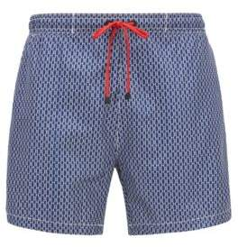BOSS Hugo Quick-drying swim shorts all-over monogram print S Open Blue