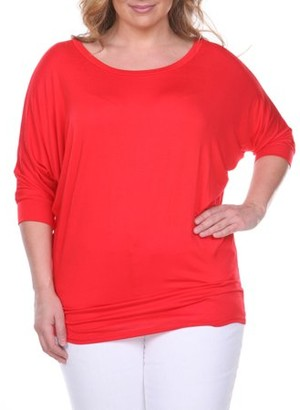 92ef84bbb51428 White Mark Women's Plus Size Dolman Top
