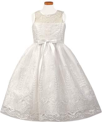 Sorbet Embroidered First Communion Dress