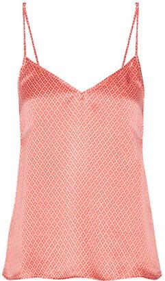 Paloma Blue - Capri Printed Silk-satin Camisole - Coral