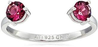 Swarovski Sterling Silver Crystal Open Ring