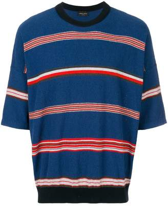 Roberto Collina striped short sleeve jumper