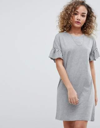 Noisy May ruffle sleeve t-shirt dress