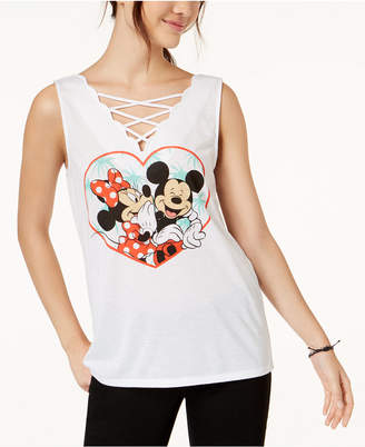 Hybrid Love Tribe Juniors' Disney Mickey & Minnie Mouse Graphic Tank Top