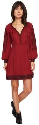 Stetson 1496 Poly Crepe Long Sleeve Loose Dress Women's Dress