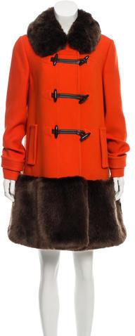 Kate SpadeKate Spade New York Faux Fur-Trimmed Wool Coat