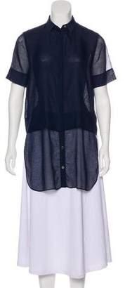 Alexander Wang Short Sleeve Button-Up Top