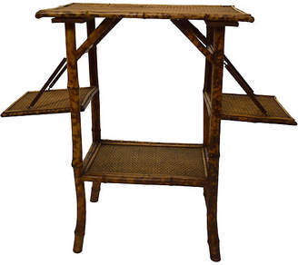 One Kings Lane Vintage 19th-C. Folding Bamboo Table - Countryside Antiques
