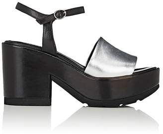 Barneys New York Women's Colorblocked Leather Ankle-Strap Platform Sandals