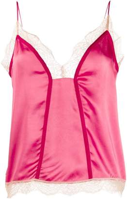 Pinko lace trimmed camisole top