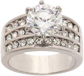 clear SPARKLE ALLURE Sparkle Allure Ring Box Test Womens 5 CT. T.W. Lab Created Pure Silver Over Brass Engagement Ring