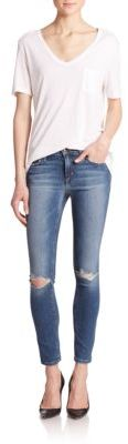 Icon Distressed Ankle Skinny Jeans $185 thestylecure.com