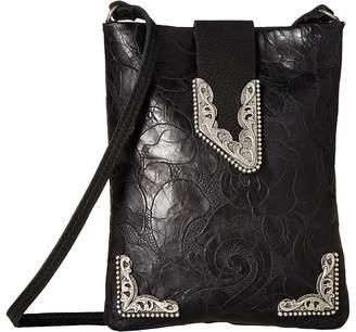 Leather Rock Casey Cell Pouch/Crossbody Cross Body Handbags
