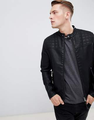 New Look biker jacket in black