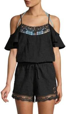 Zen Garden Cotton Cover-Up Romper