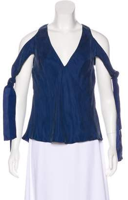 Ellery Tie-Accented Sleeveless Top