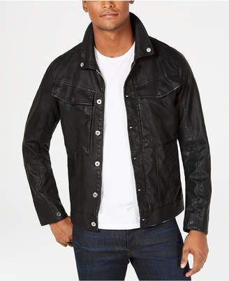G Star Mens Vodan Pleather Jacket, Created for Macy's