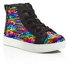 Steve Madden Girls' JSeeker Reverse Sequin High-top Sneakers - Little Kid, Big Kid