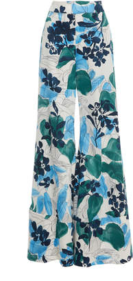 Alexis Dasha Floral Cotton Wide-Leg Pants