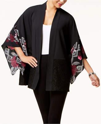 Alfani Lace-Trim Kimono