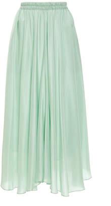 Vince Gathered Silk Maxi Skirt Size: XXS