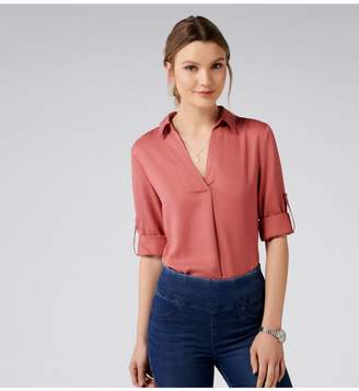 Ever New Kiki Tuck Detail Roll Sleeve Top