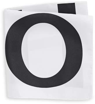HUGO Logo Silk Pocket Square